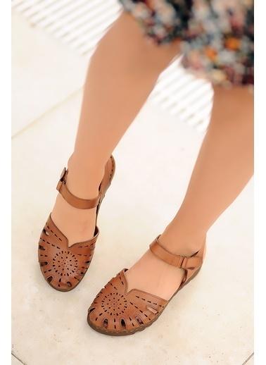 Pembe Potin A0204-20 Kadın Sandalet A0204-20 Taba